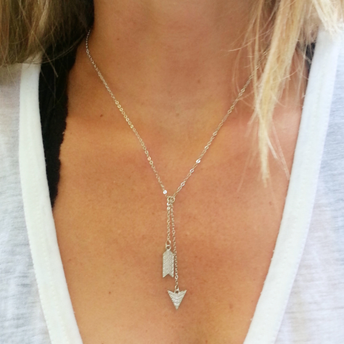 silver gold necklace products sterling arrow tangerine jewelry arrowrev shop or
