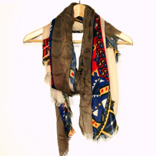 up in tribal scarf the rustic feather